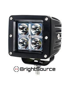 """Brightsource Light Bar 3"""" LED With Harness Spot Pair"""